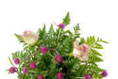 Detail of bouquet of roses — Stock Photo
