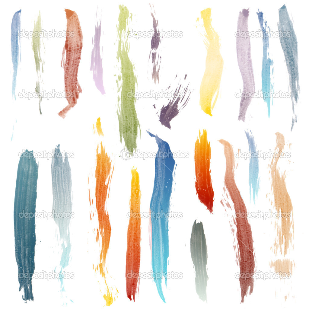 Colorful brush strokes isolated on white background. — Stock Photo #4141039