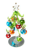 Glass Christmas tree — Stock Photo