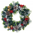 Christmas door garland — Stock Photo