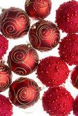 červené vánoční koule — Stock fotografie