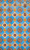 Portuguese facade glazed tiles — Stock Photo