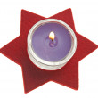 Royalty-Free Stock Photo: Red star with candle