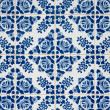 Traditional Portuguese glazed tiles — Stock Photo #4329831