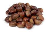 Chestnuts background — Stock Photo