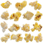 Popped kernels of pop corn snack — Stock Photo