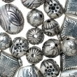 Silver beads - Stock Photo