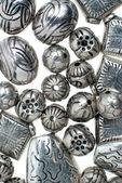 银的珠子 — 图库照片