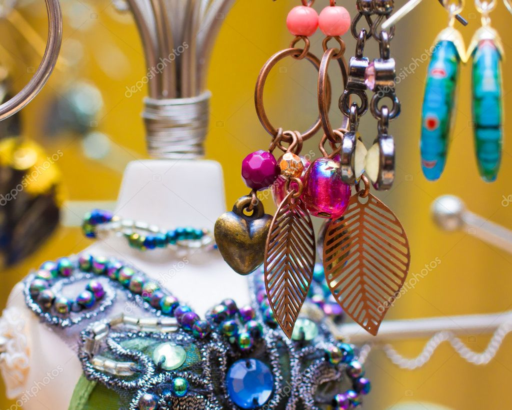 An image of dangling earrings — Stock Photo #4274832