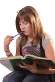 Girl Reading — Stock Photo