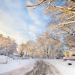 Snowy American Neighborhood — Stockfoto