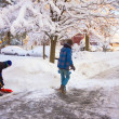 Stock Photo: Clearing Snow