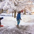 Foto Stock: Clearing Snow