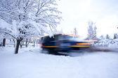 Snowplow Moving — Stock Photo