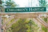 Childrens Habitat Sign — Stock Photo
