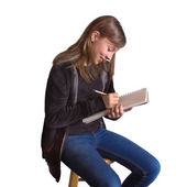 Girl Sketching — Stock Photo