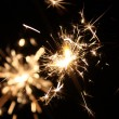 Flashing sparkler — Stock Photo