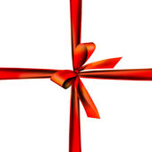 Beautifully packaged with a red ribbon — Stock Photo