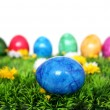 Stock Photo: Blue egg in foreground