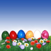 Easter with blue sky — Stock Photo