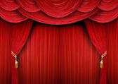 Closed curtain of a theater — Stock Photo