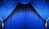 Blue Theatre Curtain — Stock Photo