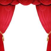 Open podium met een witte achtergrond — Stockfoto