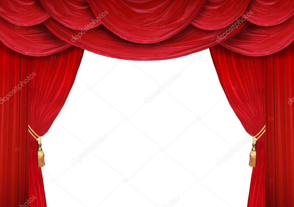 Open Theater Curtains — Stock Photo © photochecker #5318519