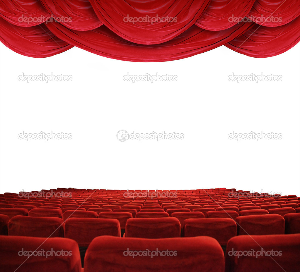Classic cinema with red seats  — Stock Photo #5318581