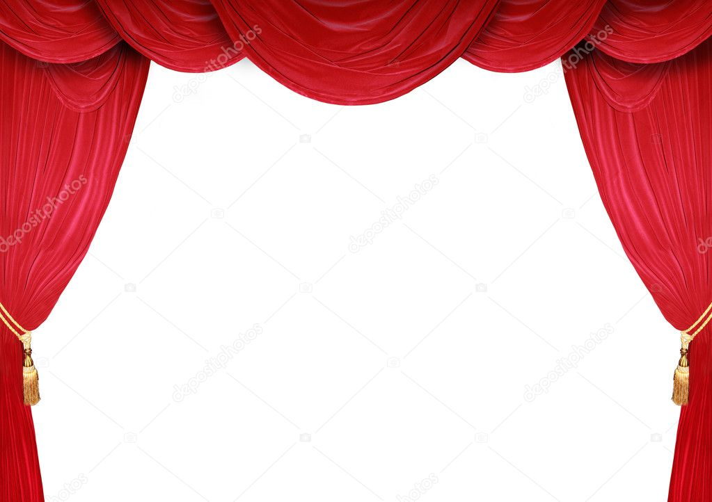 Red curtain of a classical theater  — Stock Photo #5318691