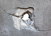 Hole in the concrete — Stock Photo