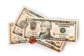 United States (US) dollars — 图库照片