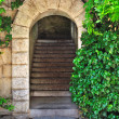 Old garden gate - Stock Photo
