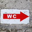"Sign ""WC"" — Stock Photo"