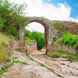 Ancient Roman road in the mountains — Stock Photo