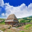 Cabin of poor peasant on picturesque Highlands — Stock Photo