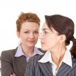 Portrait of two business women — Stock Photo