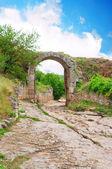 Ancienne voie romaine dans les montagnes — Photo