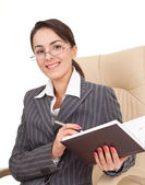 Woman in the office dress — Stock Photo