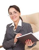 Donna in abito ufficio — Foto Stock