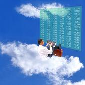 Anbud på himlen monetära marknaden — Stockfoto