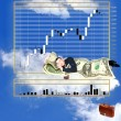 Sleeping businessman — Stock Photo #3992125