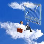 Oferta al mercado monetario el cielo — Foto de Stock