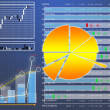 Datasheet currency tender upon finance market — Stock Photo