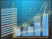 Gegevensblad valuta inschrijving op de financiële markt — Stockfoto