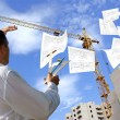Designing technology in construction - Stock Photo