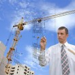 Designing technology in construction — Stock Photo #4083736
