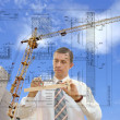 Designing technology in construction — Stock Photo
