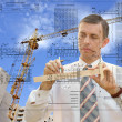 Stock Photo: Designing technology in construction