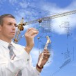 Designing technology in construction — Stockfoto